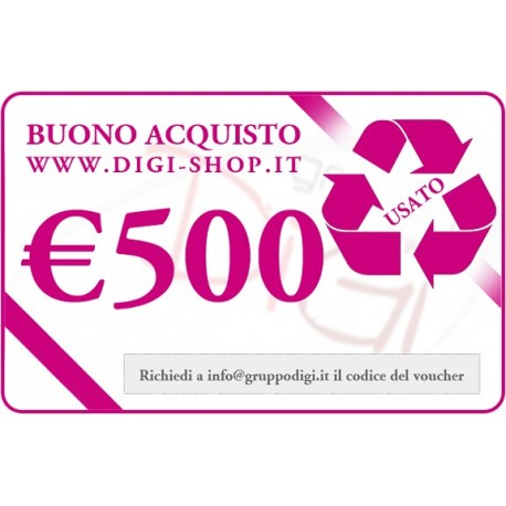 Buono regalo da 500 euro usato for Merce in regalo