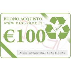 From 100 Euro gift voucher (for the purchase of used goods)