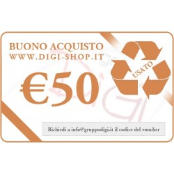 From 50 Eur gift voucher (for the purchase of used goods)