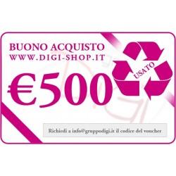 Chèque-cadeau de 500 euros (pour l'achat des produits d'occasion)