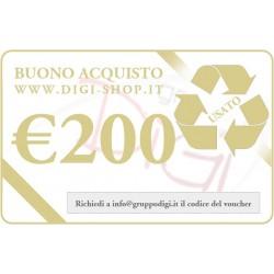 De bon de cadeau 200 euros (pour l'achat des produits d'occasion)