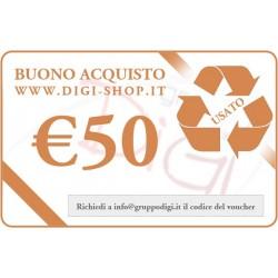 De bon de cadeau 50 euros (pour l'achat des produits d'occasion)