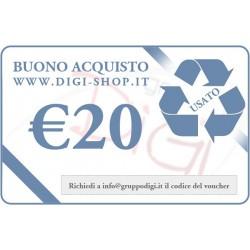 De bon de cadeau 20 euros (pour l'achat des produits d'occasion)