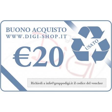 Buono Regalo da 20 Euro (per acquisto di merce usata)