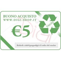 Certificat-cadeau de 5 euros (pour l'achat des produits d'occasion)