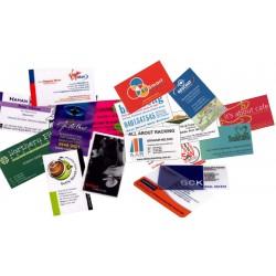 2000 tarjetas de doble impresión 4 colores 300 g