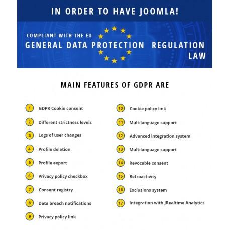 GDPR per Joomla